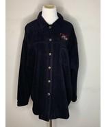 San Francisco 49ers Women's Fleece Lee Sport Casuals Button Up Shirt Bla... - $29.95