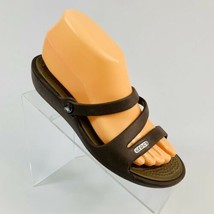 Crocs Women's size 7W Brown Waterproof Slide Slip On Sandals - $19.79