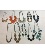 Vintage To Now-Fashion Statement Necklaces LOT of 10 - $12.86