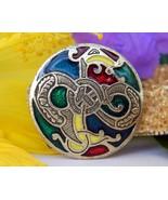 Vintage Miracle Enamel Brooch Pendant Celtic Sea Serpent Dragon Soldor - $24.95