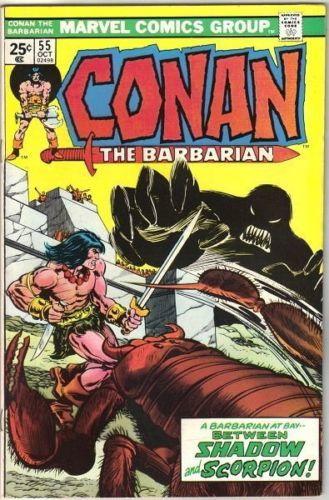 Conan the Barbarian Comic Book #55 Marvel Comics 1975 FINE+
