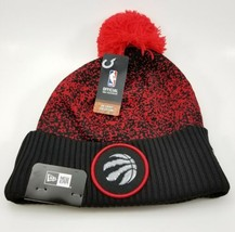 New Era NBA Bobble Toronto Raptors 2017 On Court Sports Knit. Red Beanie... - $26.12