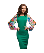 Winter fashion dresses womens work wear casual office dress floral sexy - $21.99