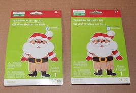 Christmas Wooden Activity Kits 6+ Creatology 74pc Makes 2 Santa Claus 73G - $5.92