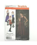 Simplicity 2757 size L XL R5 Punk Goth Corset Dress Costume Sewing Patte... - $19.95