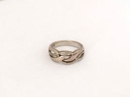 Vintage Sterling Silver Twisted Band Ring Size 8 - $16.00