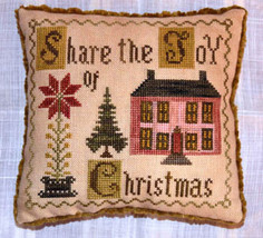 Share The Joy Of Christmas cross stitch chart Abby Rose Designs - $8.10