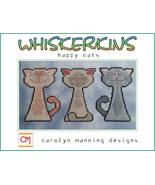Happy Cats Whiskerins cat cross stitch chart CM Designs - $9.00