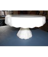 "Anchor Hocking 11"" milk glass cake plate - $35.00"