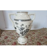 "LENOX CHINA THE FLORAL ELEGANCE VASE 9""H SEPIA FLOWER URN IVORY & BLACK ... - $24.70"