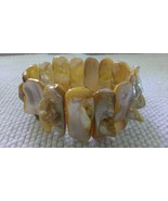 Bracelet MOP Mother of Pearl Blister Pearl Stretch  - $8.00