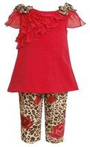 Bonnie Baby Baby-Girls Newborn Infant Ruffle Tunic Legging Set (3-6 Months, R... image 2