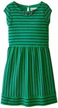 Blush by Us Angels Big Girls' Cap Sleeve Popover Dress, Emerald, 10 [Apparel]