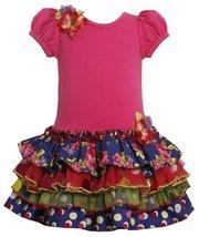 Bonnie Jean Little Girls' Multi Print Tiered Dress, Purple, 3t [Apparel] image 2