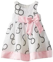 Bonnie Jean Little Girls' Embroidered Circle Dress, Black/White, 2T [Apparel]