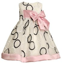 Bonnie Jean Little Girls' Embroidered Circle Dress, Black/White, 3T [Apparel]