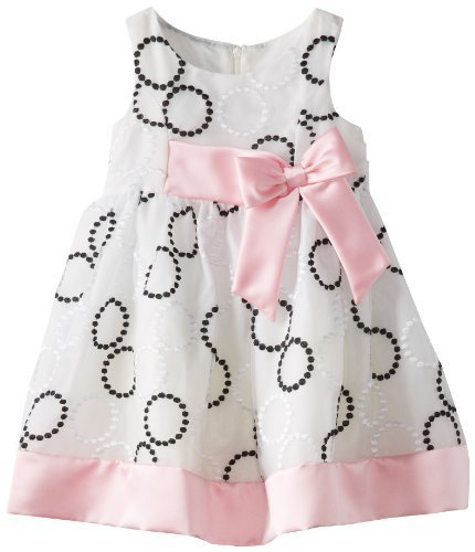 Bonnie Jean Little Girls' Embroidered Circle Dress, Black/White, 3T [Apparel]