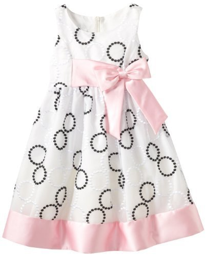 Bonnie Jean Little Girls' Embroidered Circle Dress, Black/White, 6 [Apparel]