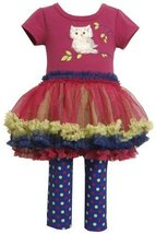 Bonnie Baby Baby Girls' Owl Tutu Legging Set, Magenta, 24 Months [Apparel] Bo...