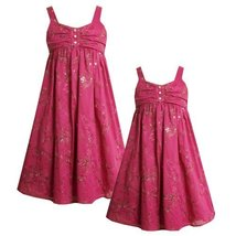 Size-5 BNJ-0567-B FUCHSIA-PINK SEQUIN EMBROIDERED BABYDOLL Special Occasion W...