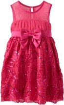 Bonnie Jean Little Girls' Bonaz Dress, Fuchsia, 6 [Apparel]