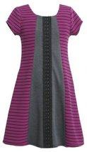 Purple Black Grey Mix Media Colorblock Ponte Knit Dress PU3SI,Bonnie Jean Lit...