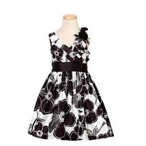 Bonnie Jean Black White Floral Fall Dress Girls 5 [Apparel]