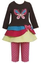 Tiered Colorblock Butterfly Applique Dress/Legging set BR2TW,Bonnie Jean Todd...