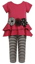 Tiered High-Low Cut Out Heart Dress/Legging Set FU3FV,Bonnie Jean Little Girl...