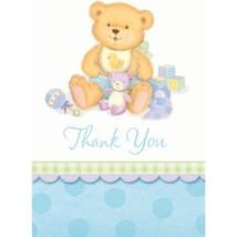 Precious Bear Blue Thank You Cards 8ct - $6.47