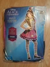 Disney Alice In Wonderland Mad Hatter Costume Child Girl Small 4 - 6 3 Piece - $29.65