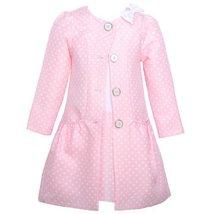 Bonnie Jean Baby Girls Pink Dotted Jacquard Coat & Dress Set, Pink, 3-6M Bonn...