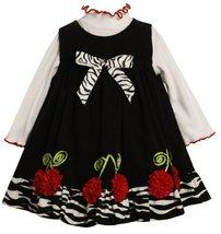 Bonnie Baby-Girls Newborn Corduroy Jumper Set With Cherry Bonaz Trim (24 Mont...
