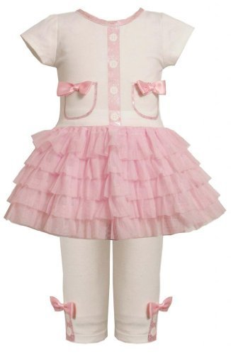 Glitter Screen Print Pocket Tutu Dress/Legging Set PK2FR,Bonnie Jean Todders ...