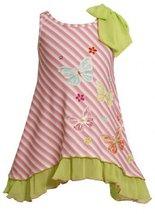 Size-6X, Pink, BNJ-2423M, Pink Bias Stripe Sequin Butterfly Bow Shoulder Knit...
