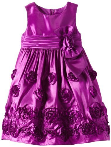 Bonnie Jean Little Girls' Taffeta Bonaz Dress, Magenta, 4T [Apparel]