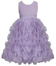 Lilac Metallic Knit to Vertical Organza Ruffles Dress LL4MB, Lilac, Bonnie Je...