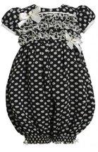 Ruffle Bodice Sparkle Dot Print Chiffon Romper/Jumpsuit GRN0SA Bonnie Jean Ba...