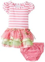 Bonnie Baby Baby-Girls Infant 12M-24M Stripe Knit To Multi Tiered Skirt (12 M...