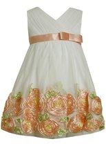 Bonnie Jean Girls 2-6X Bonaz Border Dress (3T, Coral) [Apparel]