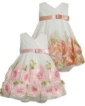 Baby-Girls Newborn Organza Bonaz Rose Border Dress 0IVSA, Ivory, Bonnie Jean ...