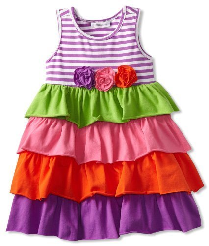 Bonnie Jean Little Girls' Knit Tiered Sundress, Multi, 6X [Apparel]