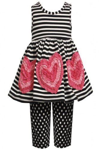 Size-5, Black/White, BNJ-2397M, 2-Piece Black/White Stripes and Dots Bonaz He...