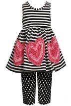 Size-5, Black/White, BNJ-2397M, 2-Piece Black/White Stripes and Dots Bonaz He...