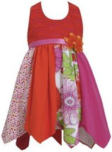 Fuchsia Lace to Colorblock Print Hanky Hem Knit Halter Dress FU2HA, Fuchsia, ...