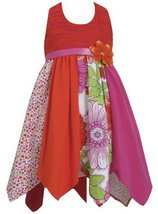 Fuchsia Lace to Colorblock Print Hanky Hem Knit Halter Dress FU3SP, Fuchsia, ...