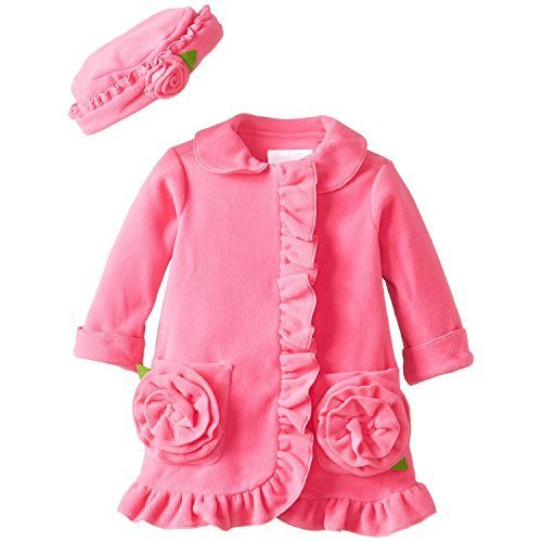 Bonnie Baby Girls' Fuchsia Fleece Coat and Hat Set, Fuchsia, 18 Months [Apparel]