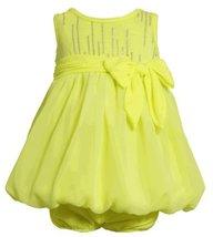 Size-24M, Yellow, BNJ-2333S, 2-Piece Neon-Yellow Foil Dot Knit to Chiffon Bub...