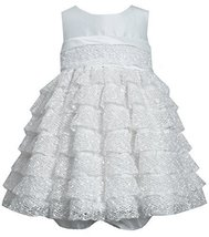 Bonnie Baby Baby Girls' Crochet Lace, Ivory, 12 Months [Apparel]