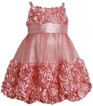 Coral Metallic Bonaz Border Mesh Bubble Dress CO 2HA, Coral, Bonnie Jean Litt...